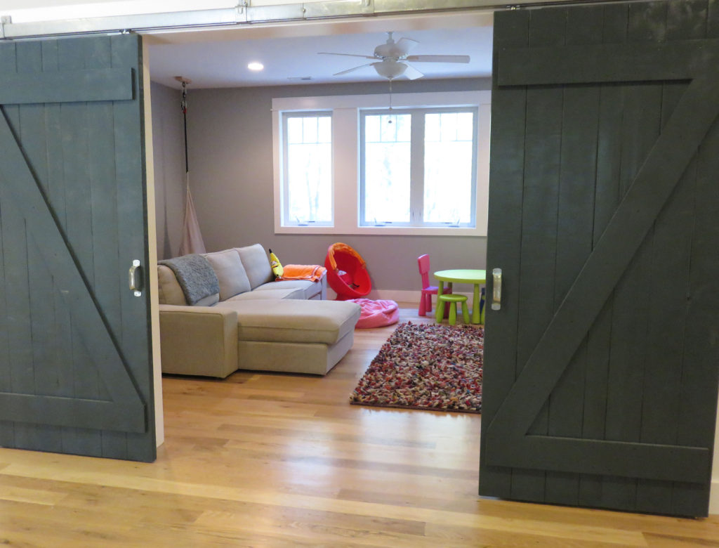 Barn Doors to Playroom